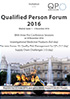 Qualified Person Forum 2016 - Madrid