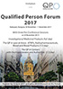 Qualified Person Forum - 30 November - 1 December 2017 - Budapest