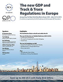 ECA Seminar -The new GDP and Track & Trace Regulations in Europe